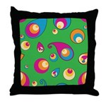 Green Spheres Throw Pillow