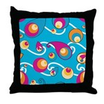 Blue Spheres Throw Pillow
