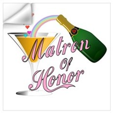 Champagne Toast Matron of Hon Wall Decal