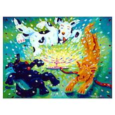 'Doggies Sprinkler' Poster