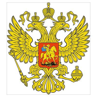 Russia Russland Logo Wappen Poster
