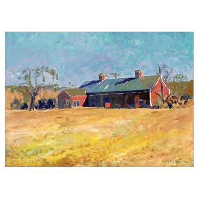 Country Red Barn Poster