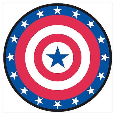 Stars bullseye Poster