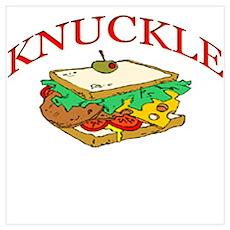 Funny Knuckle Sandwich design Poster