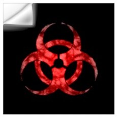 Red Cloud Biohazard Wall Decal