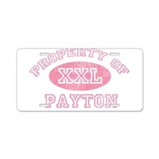 Property of Payton Aluminum License Plate