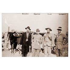 Orozco, Braniff, Villa, and Garibaldi Photo Print Poster