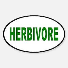 herbivore... Oval Decal