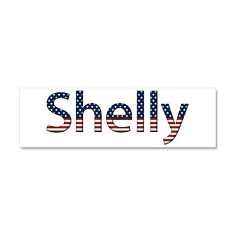 Shelly Stars and Stripes 10x3 Car Magnet