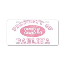 Property of Paulina Aluminum License Plate