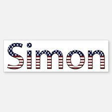 Simon Stars and Stripes Bumper Bumper Bumper Sticker