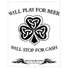 Will Play For Beer Canvas Art