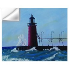 Oil Painting of South Haven M Wall Decal