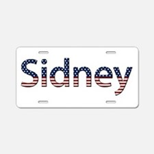 Sidney Stars and Stripes Aluminum License Plate