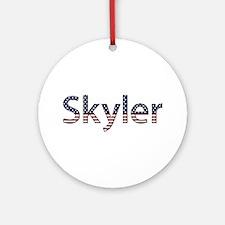 Skyler Stars and Stripes Round Ornament