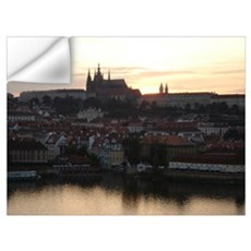 Prague Castle at Sunset Wall Decal