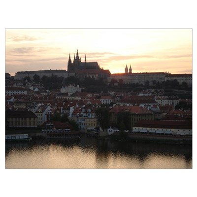 Prague Castle at Sunset Poster