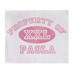 Property of Paola Throw Blanket