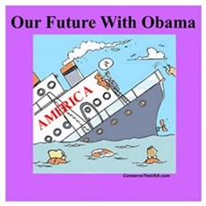 """Obama Will Sink America"" Canvas Art"