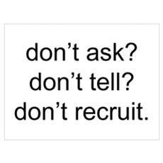 dont recruit Poster