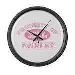 Property of Paisley Large Wall Clock