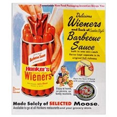 Honker's Canned Weiners Poster