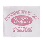 Property of Paige Throw Blanket