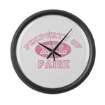 Property of Paige Large Wall Clock