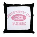 Property of Paige Throw Pillow