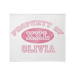 Property of Olivia Throw Blanket