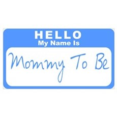 My Name Is Mommy To Be (Blue) Framed Print