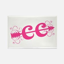 Pink CC Cross Country Rectangle Magnet