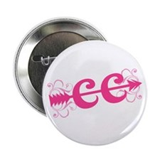 """Pink CC Cross Country 2.25"""" Button"""