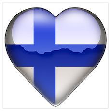 Finland Heart Poster