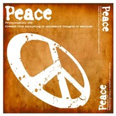 Orange Peace Poster