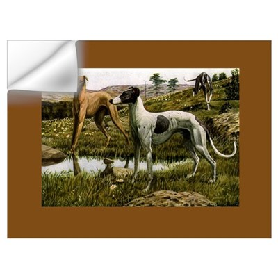 Three Greyhounds Wall Decal
