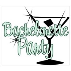 Green Martini Bachelorette Party Poster