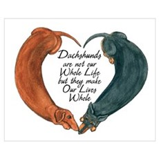 Dachshunds for Life Canvas Art