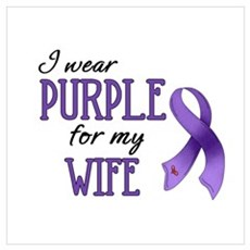 Wear Purple - Wife Canvas Art