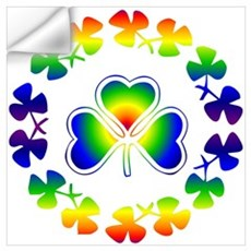 Clover Irish Rainbow Wall Decal