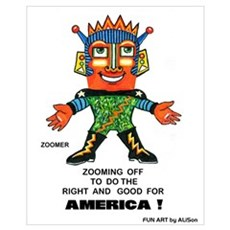 Zoomer for America Framed Print
