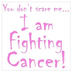 I am fighting Cancer - Pink Canvas Art