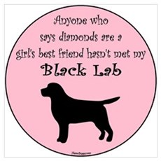 Girls Best Friend - Black Lab Poster