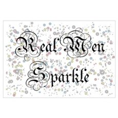 Real Men Sparkle Twilight Framed Print