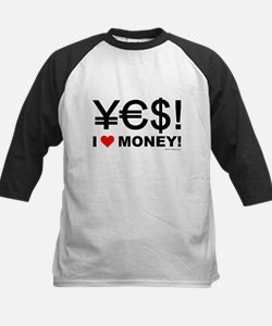 Yes! I love money! Kids Baseball Jersey