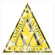 Worn Lambda Lambda Lambda Poster