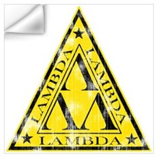 Worn Lambda Lambda Lambda Wall Decal