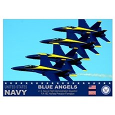 Blue Angels F-18 Hornet Poster