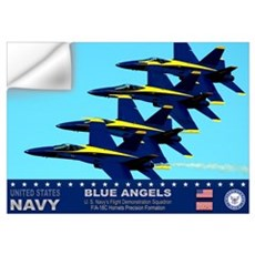 Blue Angels F-18 Hornet Wall Decal