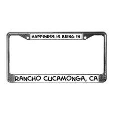 Happiness is Rancho Cucamonga License Plate Frame